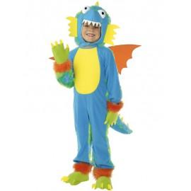 Costume Halloween Mostriciattolo Azzurro 4-6 anni