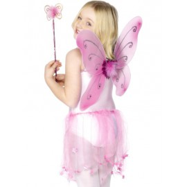 Pink Butterfly Wings One Size