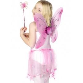 Set per Fatina o Farfalla Rosa Taglia Unica