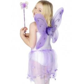 Set per Fatina o Farfalla Viola Taglia Unica
