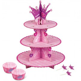 Princess Cupcake Stand and Cups Set
