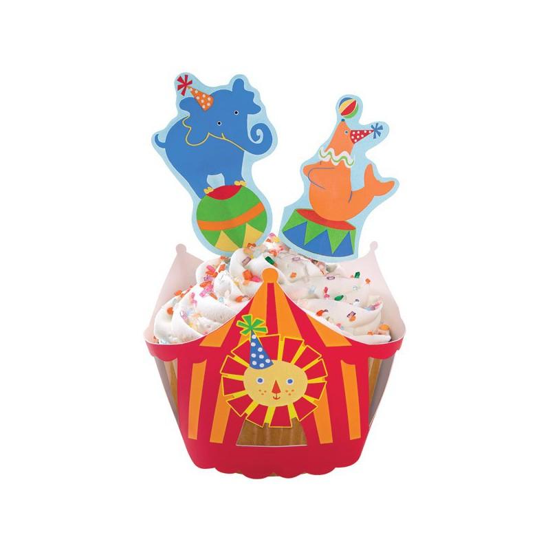 Set decorazione cupcake circo con avvolgimuffins e for Decorazione torte e cupcake