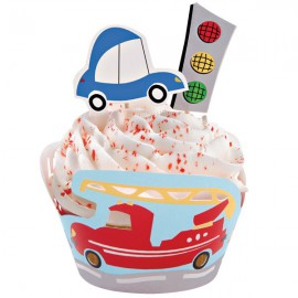 Set Decorazione Cupcake Veicoli
