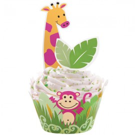 Jungle Cupcake Wraps 'n' Pix