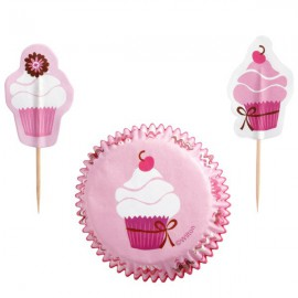 Pink Cupcake Decorating Kit