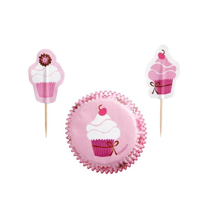 kit decorazione cupcakes pink