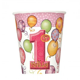 Pink Balloons Paper Cups
