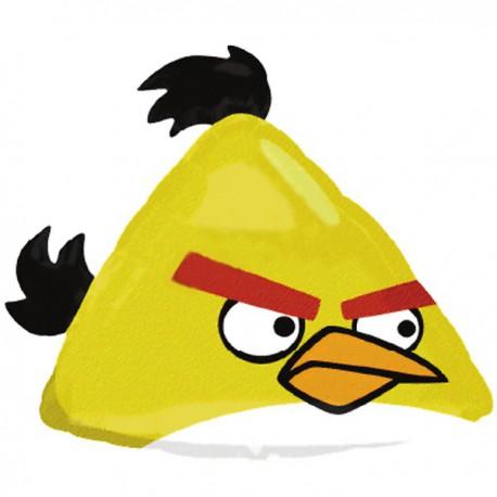 Palloncino Foil Angry Birds Nero Super Shape