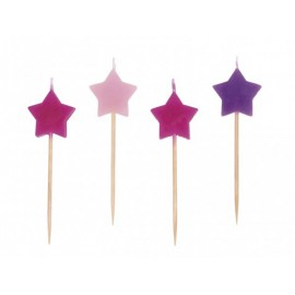 Mini Stars Candles Assorted