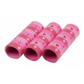 Stelle filanti pois rosa 27pz