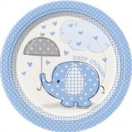 Baby Joy Blue Dessert Plates