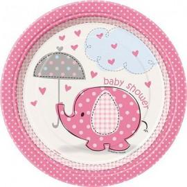 Piattini Elefantino Rosa
