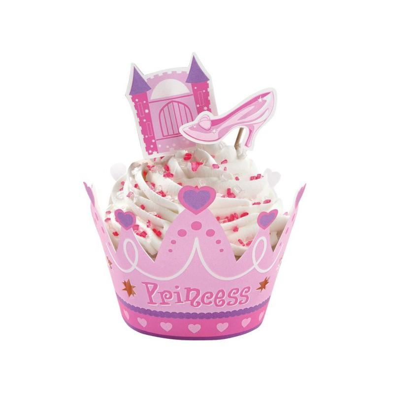 Set decorazione cupcake principessa con avvolgimuffins e for Decorazione torte e cupcake