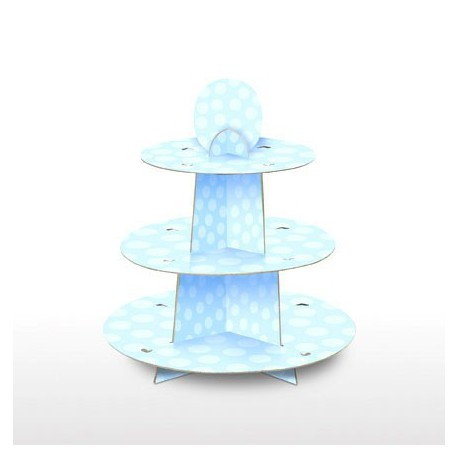 Alzata per Cupcakes Azzurra