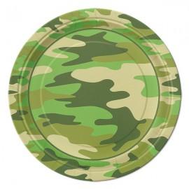 Piattini Festa Camouflage