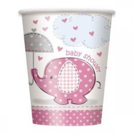 Umbrellaphants Pink Paper Cups