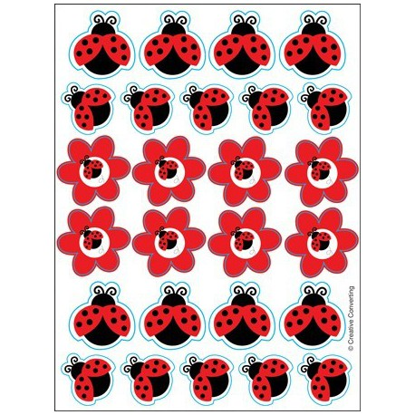 kids birthday party supplies ladybug stickers