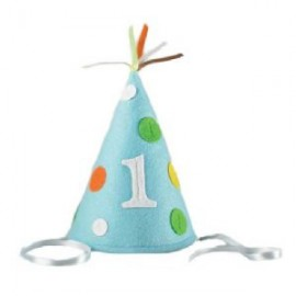 First Birthday Blue Felt Hat