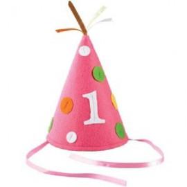 First Birthday Pink Felt Hat