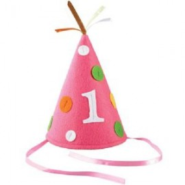 First Birthday Pink Felt Hat