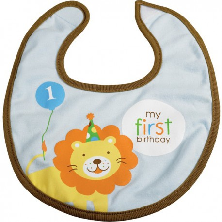 First Birthday Blue Bib