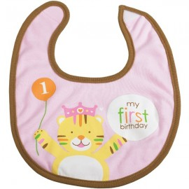 First Birthday Pink Bib