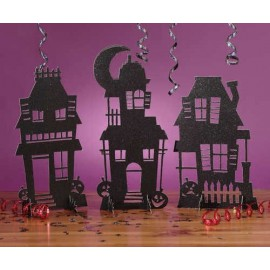 Halloween Haunted Houses Centerpiece
