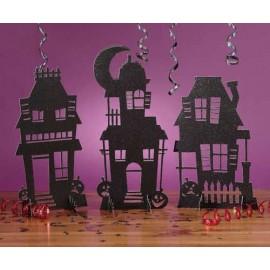 Halloween Haunted Houses Centerpiece