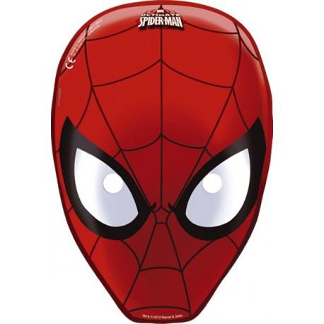 Maschera spiderman uomo ragno for Maschere da colorare spiderman