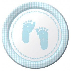 Plaid Baby Boy Dessert Plates