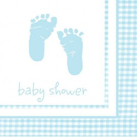 Plaid Baby Boy Lunch Napkins