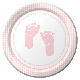 Plaid Baby Girl Dessert Plates
