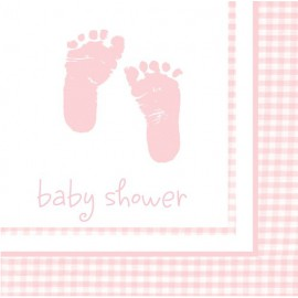 Plaid Baby Girl Lunch Napkins