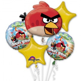 Angry Birds Foil Balloons Bouquet