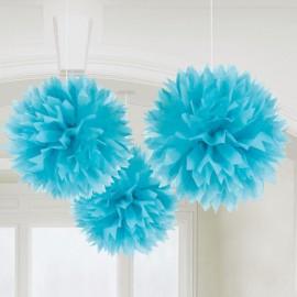 Blue Fluffy Decorations