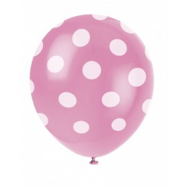 Bright Pink Dots Latex Balloons