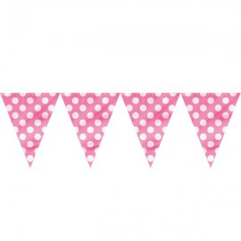Bright Pink Dots Flags Banner