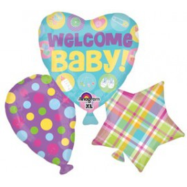 Welcome Baby SuperShape Foil Balloon