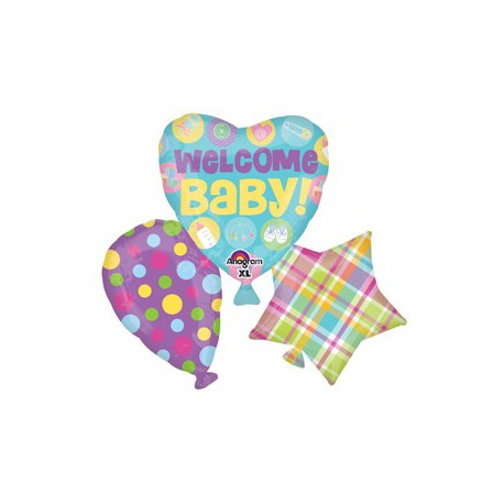 Palloncino Foil SuperShape Welcome Baby