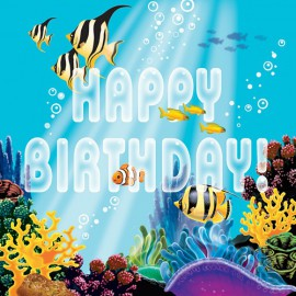 Ocean Party Happy Birthday Lunch Napkins