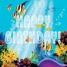 Ocean Party Happy Birthday Lunch Napkins