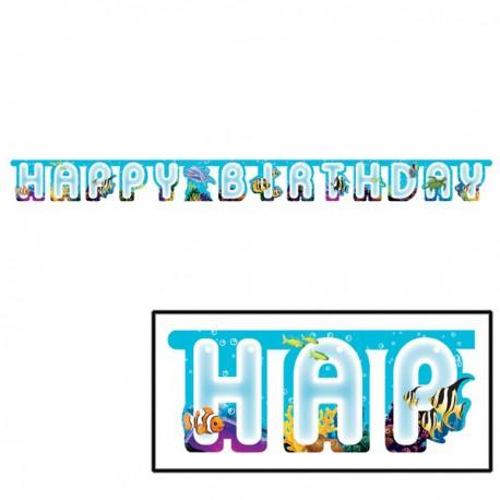 Ocean Party Happy Birthday Banner