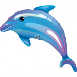 Dolphin SuperShape Foil Balloon