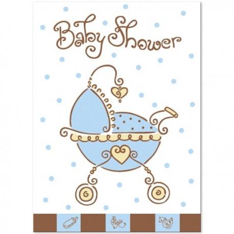 Inviti Baby Joy Azzurro 8pz