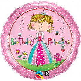 Birthday Princess Foil Balloon