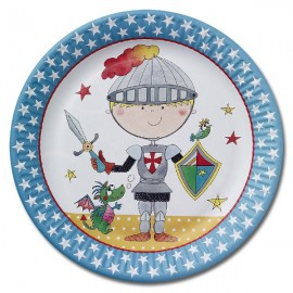Birthday Knight Plates