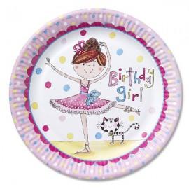 Birthday Ballerina Plates