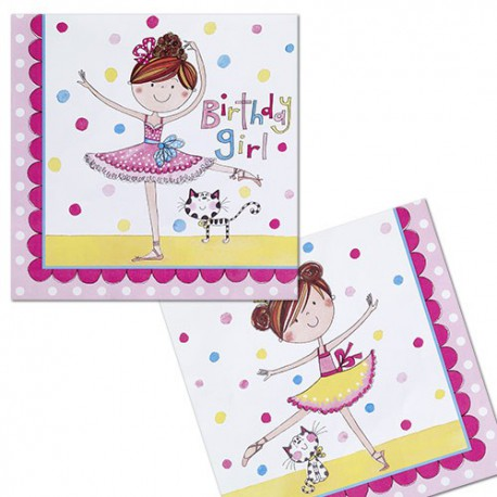 Birthday Ballerina Lunch Napkins