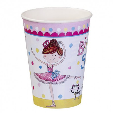 Birthday Ballerina Paper Cups