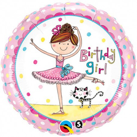 Birthday Ballerina Foil Balloon